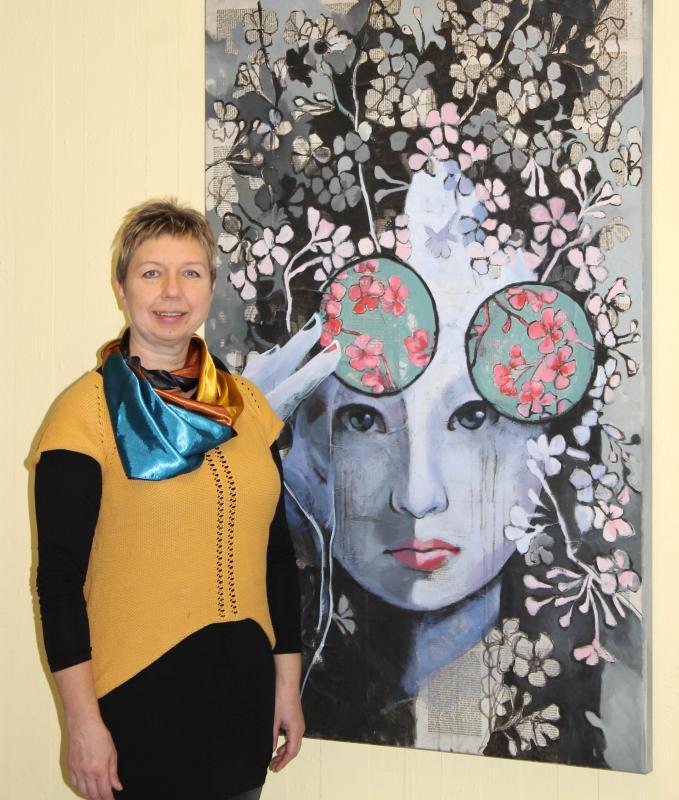 Rathaus Rülzheim Einzelausstellung Olga David