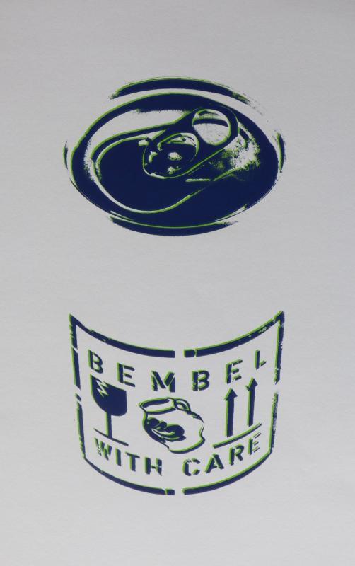 Bembel with care, limitierter Siebdruck