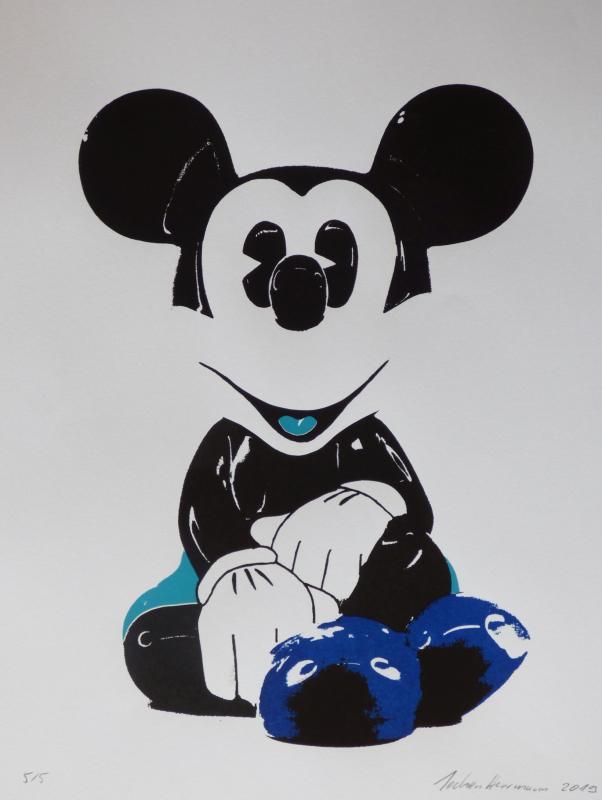 Mickey, limitierter Siebdruck
