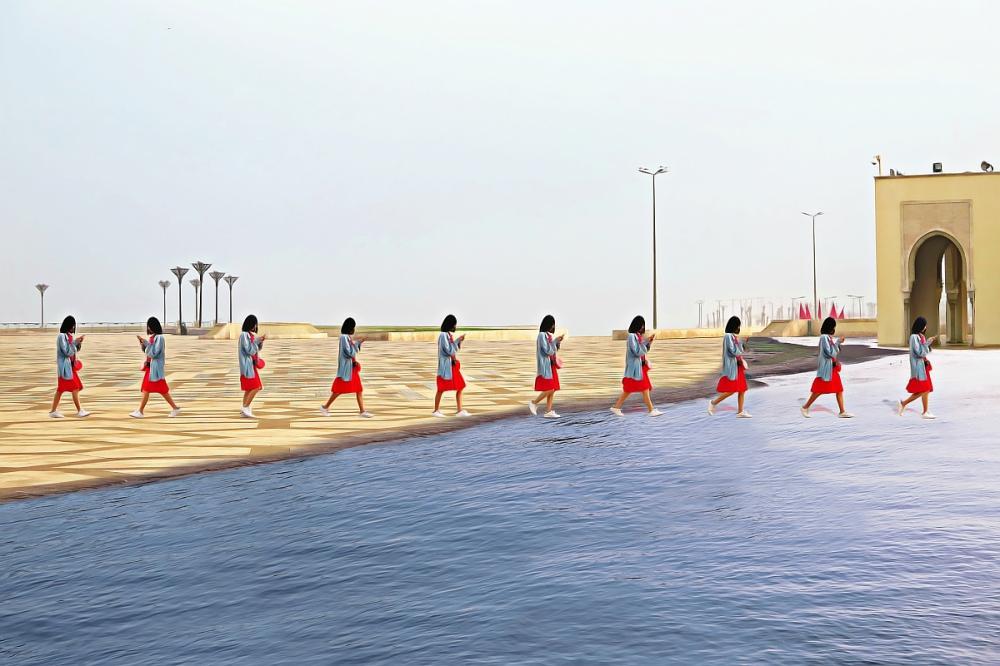 Übers-Wasser-laufen-App