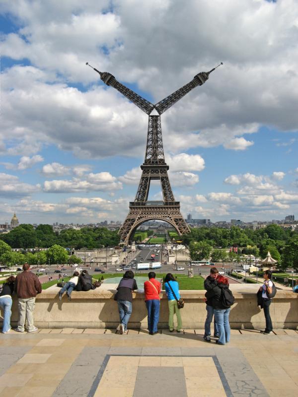 Kapriolen am Trocadéro