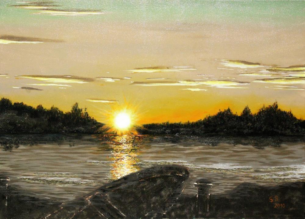 Mittsommer in Schweden, 2010, Öl auf Leinwand, 70 X 50 cm