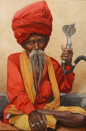 Sadhu - ein Leben in Askese, 2016, Öl auf Leinwand, 45 x 70 cm