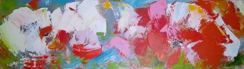 Nr. 849 Mohnsüchtig Acryl auf Leinwand 160 x 40 cm