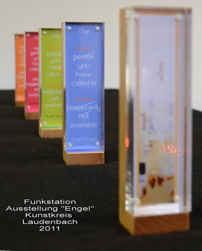 Funkstationen Tintendruck im Acryl-Holzblock Thema