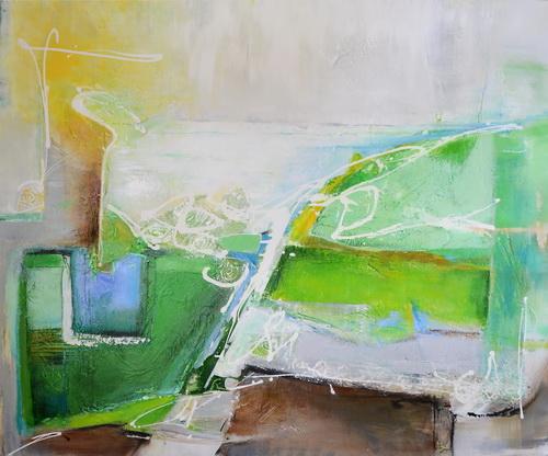 Nr. 829 Grüne Pause 150 x 124 cm Acryl auf Leinwand