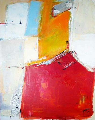 Nr. 796 Beste Aussichten 90x130 cm Acryl und Tinte auf Leinwand