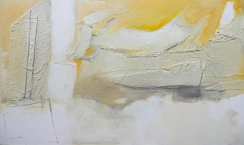 Nr. 562 Goldrausch-Rauschgold 150 x 90 cm Acryl auf Leinwand