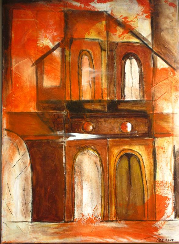 510 rotes Traumhaus 50x70