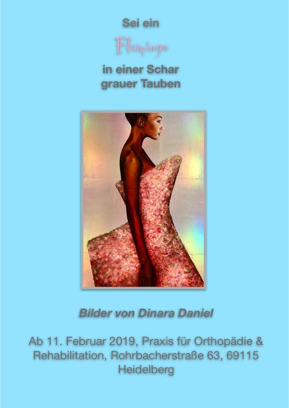 """""""Sei ein Flamingo in einer Schar grauer Tauben"""", Bilder von Dinara Daniel"""